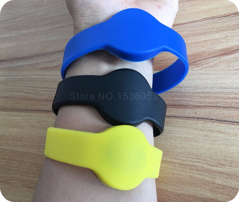 200pcs Silicone RFID Wristband With 1k S50 RFID Bracelet Protocol ISO 14443A 13 56MHz for swimming