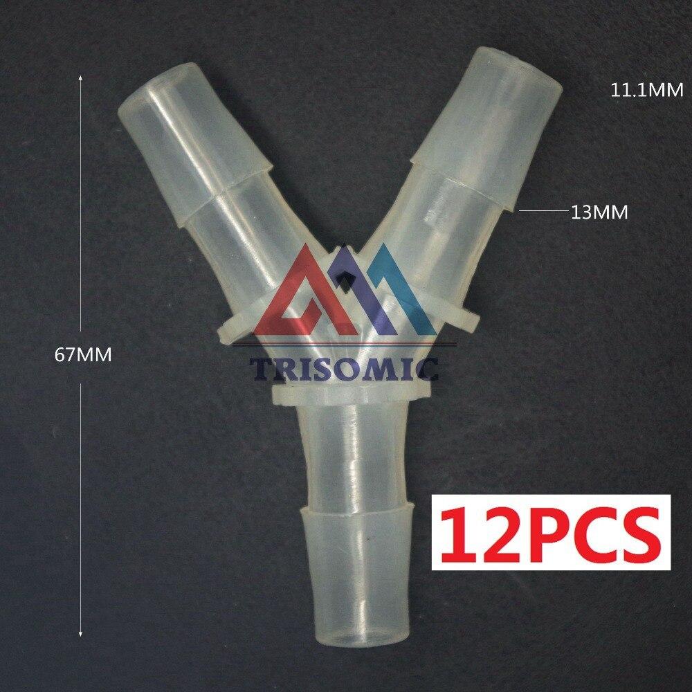 12 Stücke 11,1mm Y Tpye Equant Stecker Gleich Rohr Joiner Material Pp Kunststoff Montage Aquarium Airline Aquarium Einfach Zu Schmieren Rohrverbindungsstücke