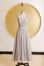 Bealegantom Fashion Appliques Backless A-Line Prom Dresses 2017 With Chiffon Plus Size Evening Party Gowns Vestido De Festa BP23