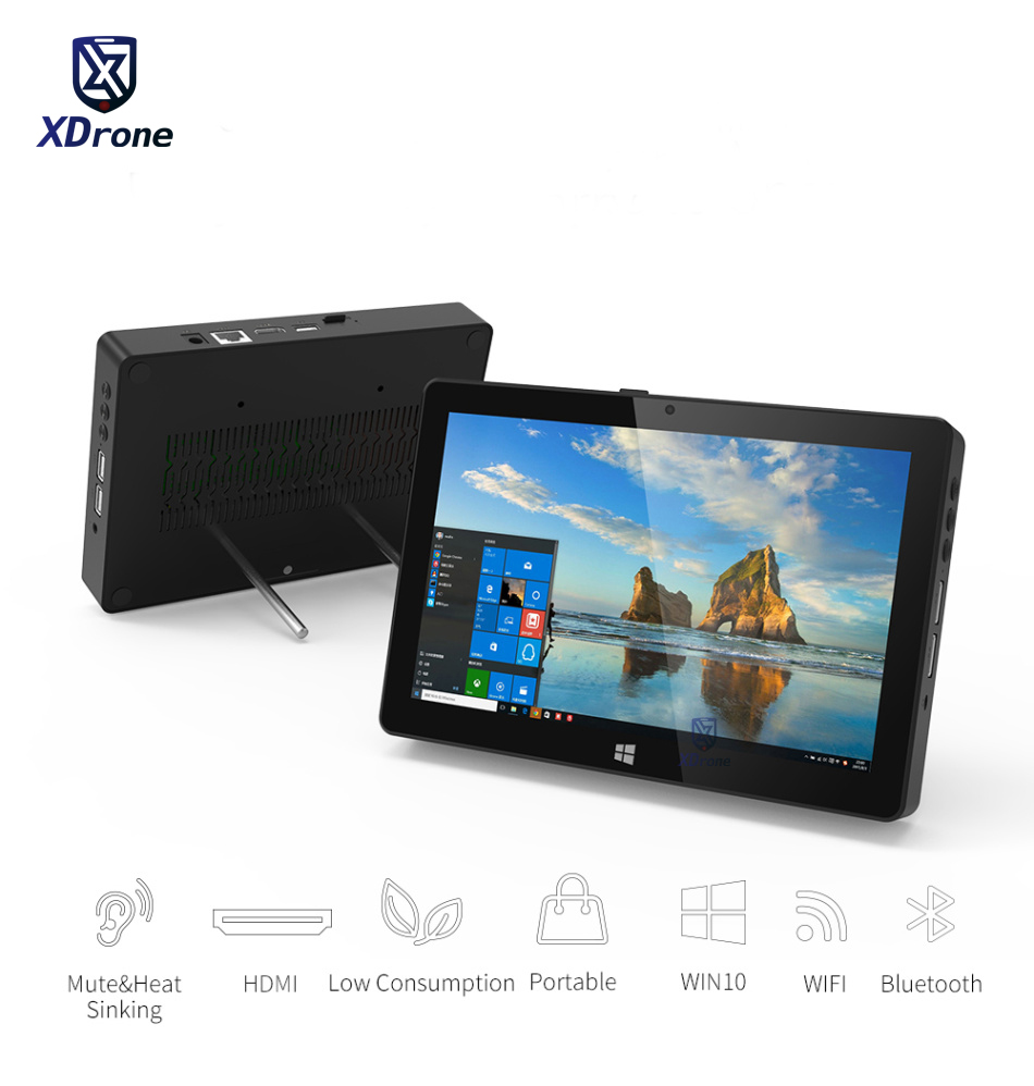 Portable Business office Tablet PC Windows 10 Home Intel Z8350 8″ Desktop Mini PC 4GB RAM 128GB ROM USB WIFI BOX HDMI Mobile Pos