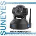 Sp-tm01ewp suneyes 1280*720 p 1.0 megapixel hd ip inalámbrica soporte de la cámara Pan/Tilt de Dos vías de audio y P2P Plug & Play ONVIF SD ranura