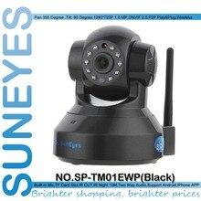 SunEyes SP-TM01EWP 1280*720P 1.0 Megapixel HD Wireless IP Camera Support Pan/Tilt Two way audio and P2P Plug Play ONVIF SD Slot