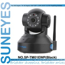 SunEyes SP-TM01EWP 1280*720P 1.0 Megapixel HD Wireless IP Camera Support Pan/Tilt Two way audio and P2P Plug Play ONVIF SD Slot