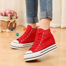 Free shipping  2015 Fashion Canvas Serpentinite High-top shoes women 4 color