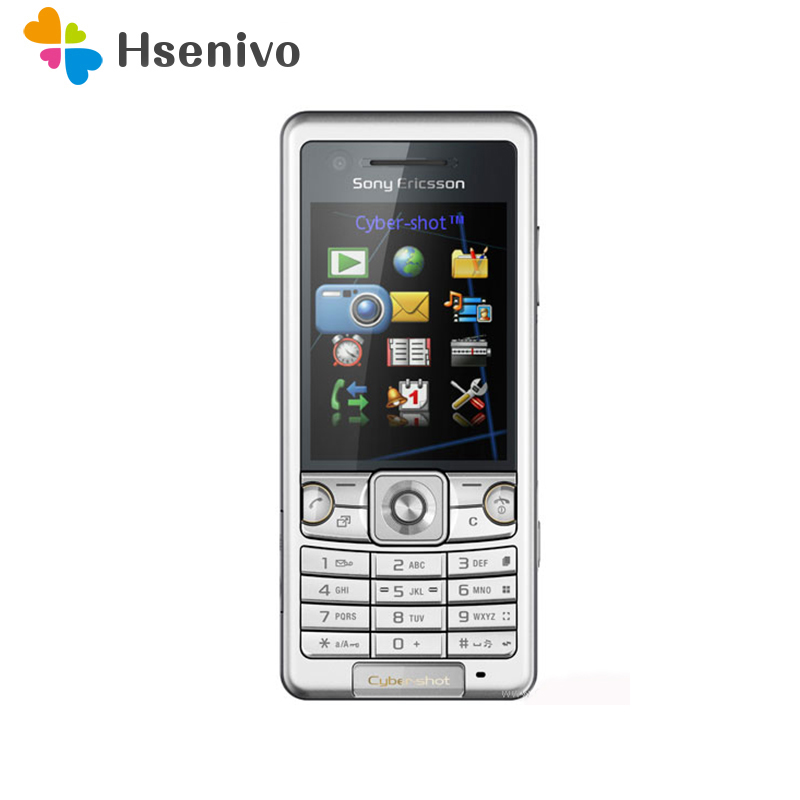 Original Sony Ericsson C510 GPS 3.15MP Camera Unlocked Cell Phone With Memory Card Slots Up To 8GB Refurbished