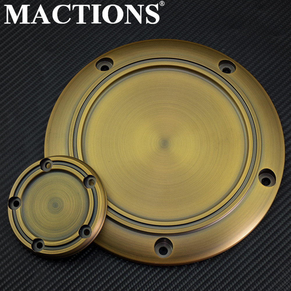Motorcycle Derby Cover Timing Timer Covers 5 Holes CNC For Harley Touring Tri Glide Ultra Classic