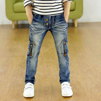 Kids Clothing 2018 New Spring Autumn Children Pants Boys Trousers Fashion Gun Cotton Pencil Pants Zipper Leggings Boy Wild Jeans Boys Jeans