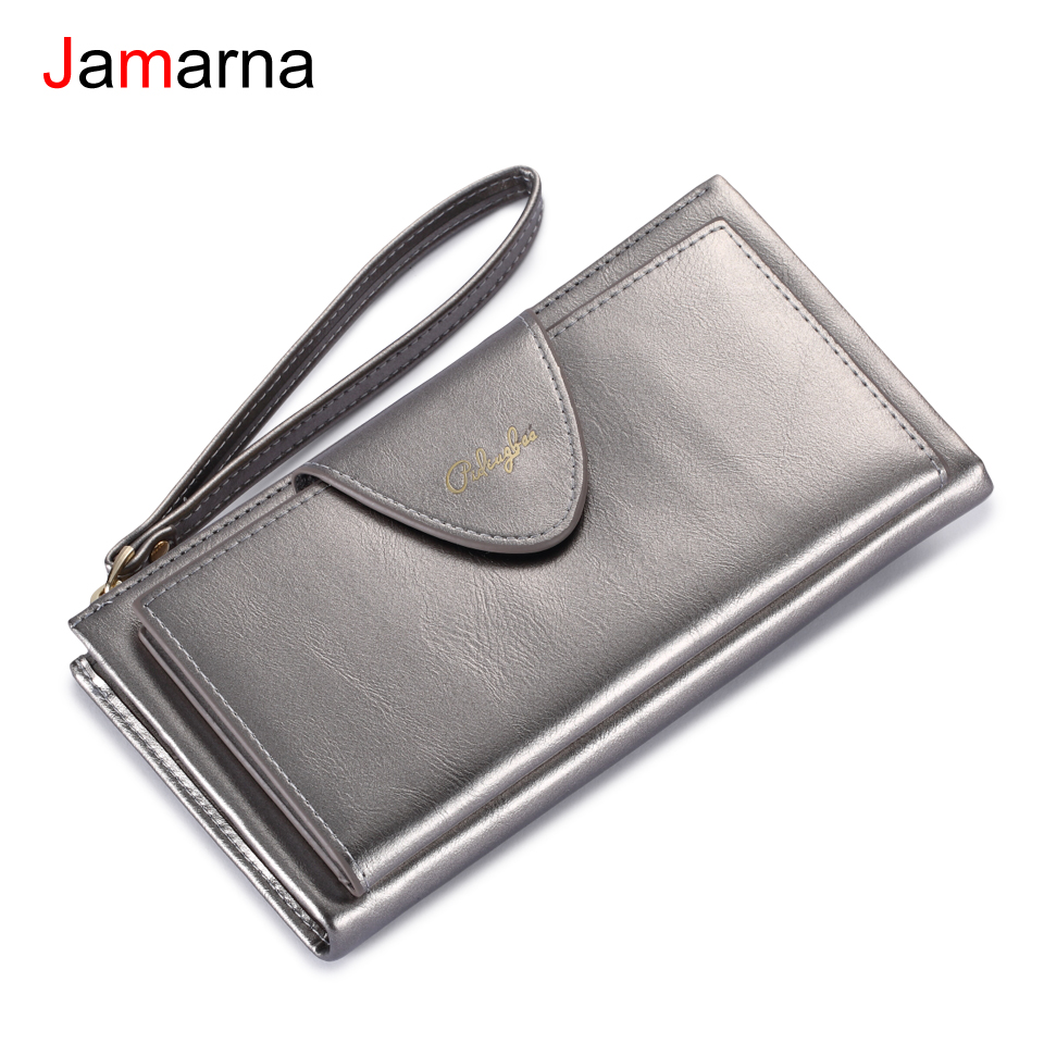 Jamarna Women Wallets Long Clutch Wallet Large Capacity Coin Purse Wallet Female Money Phone Pocket Card Holder Ladies Clutch цена