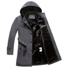 Новые Приходят Полушерстяные Куртки Пальто Мода Верхняя Одежда Теплый Человек Случайный Утолщаются Windbreake Свободные Пальто