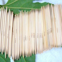 5 X 11 Sizes 5'' (12.7cm) Double Point Bamboo Kits Knitting Needles 5 Sets (2mm - 5mm)