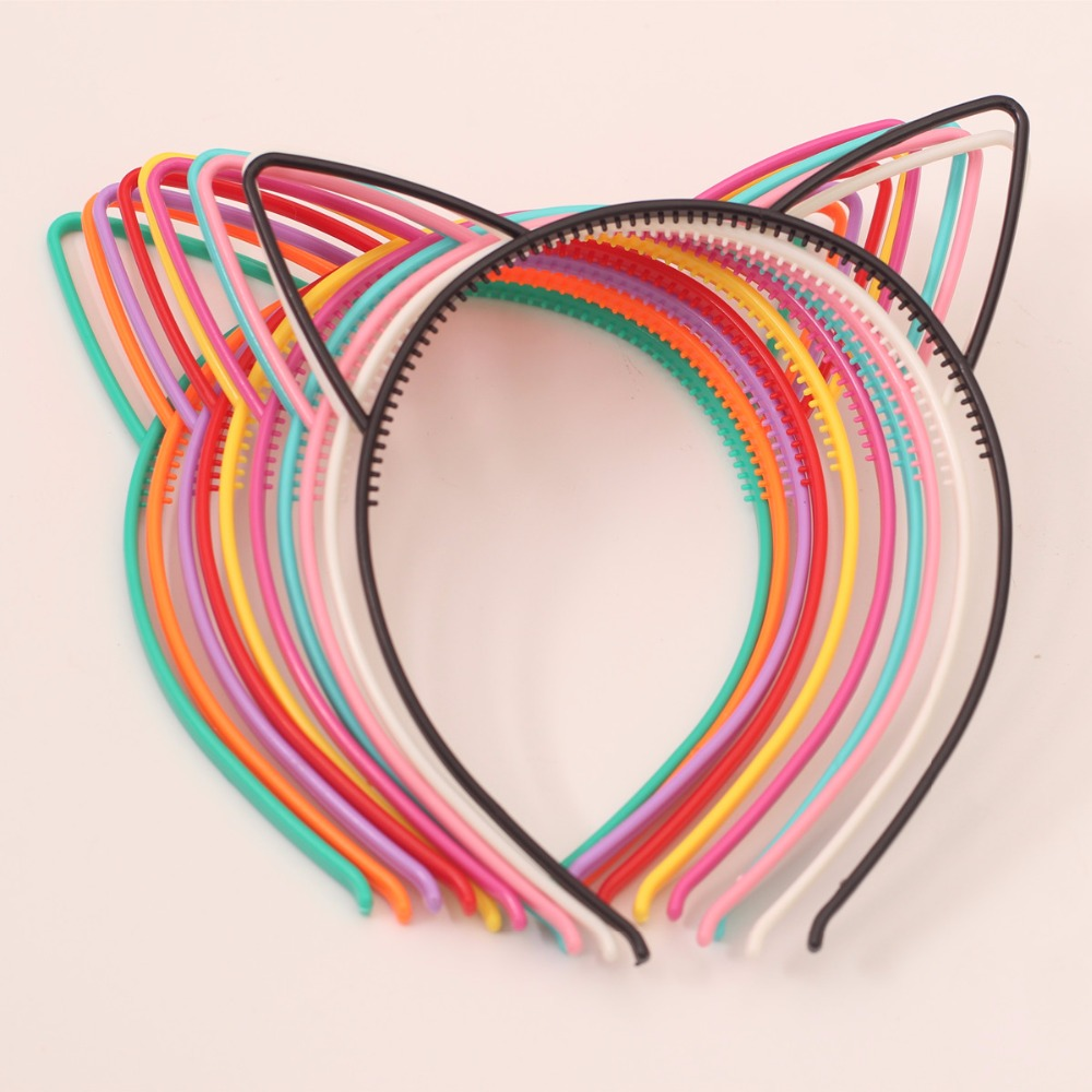 Kids girls Plastic Bunny Cat hair band accessories turban for girl hairband headbands headwear head bands ornament headdress 2015 fashion elastic hair bands for women candy color baby girl kids headbands hair ropes headwear hair accessories 20 colors