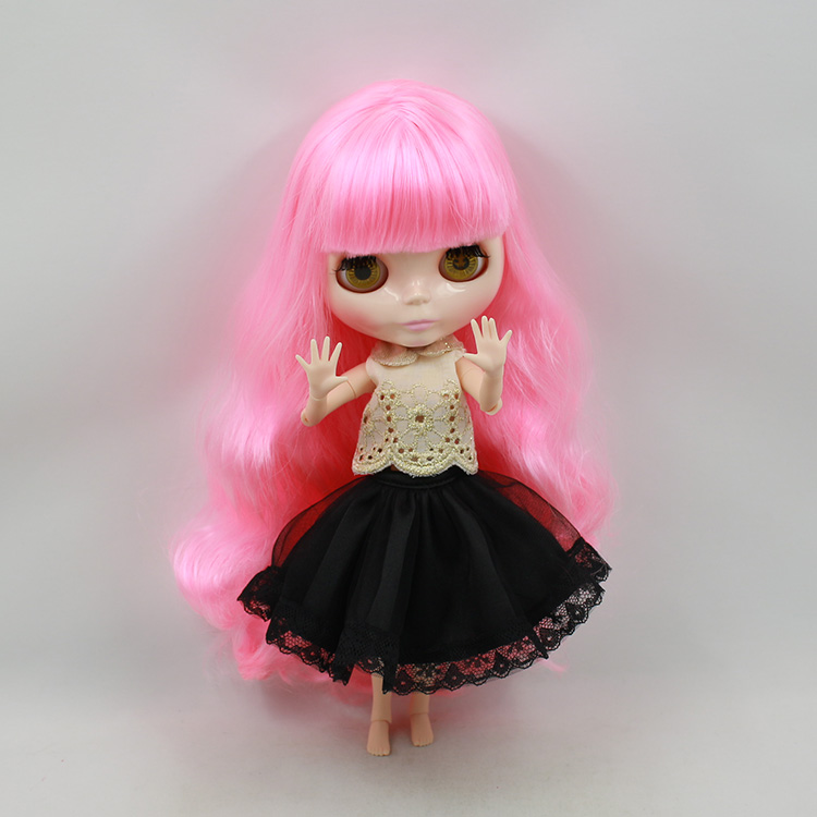 Blyth doll pink long hair with bangs fashion doll nude AB joint body suit for DIY bjd doll 28 5cm mini nude doll blyth bjd doll doll blonde long hair with bangs modified diy doll girls favorite fashion doll