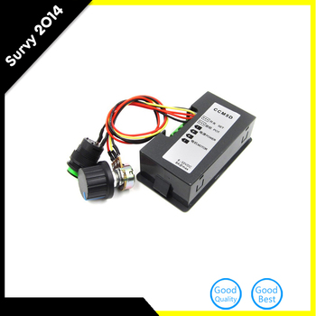 DC 6-30V 12V 24V MAX 8A Pwm Motor Speed Controller With Digital Display&Switch hot sale dc 12 48v 400w aluminum alloy cnc spindle motor er11 mach3 pwm speed controller mount 3 175mm