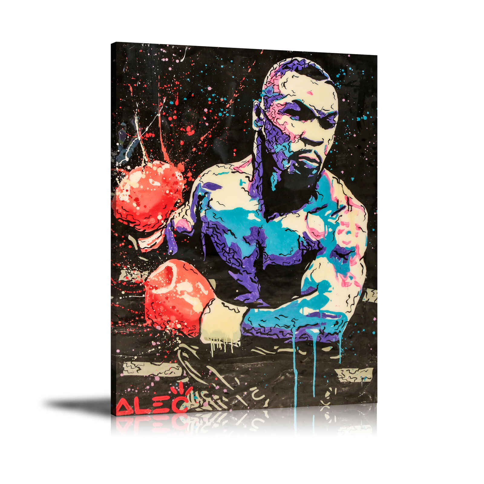 "Alec Monopolys ""Boxing Mike Tyson"" Abstract Wall Art Oil Painting Poster Canvas Painting Print for Living Room Home Decor"