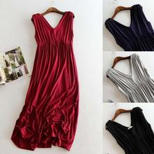 Women Long Dresses Soft Maternity Dress clothes for Pregnant Women Pregnancy Women's dress Clothing D3-26B