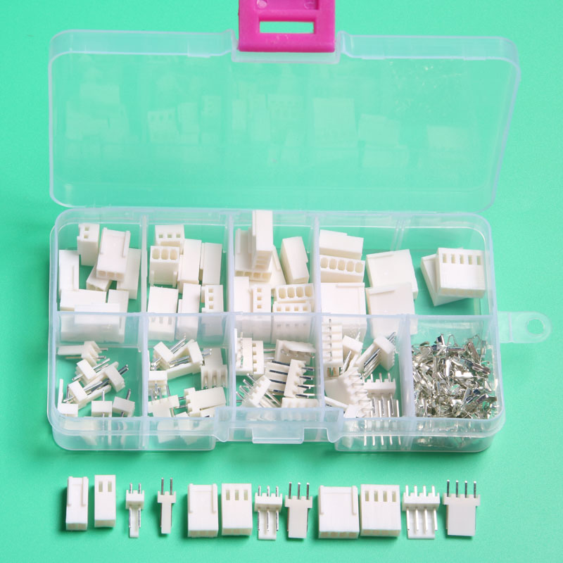 KF2510 Kits 40 sets Kit 2p 3pin 4 pin Pitch electrical automotive connector with box male female 2.54mm car connector terminal 90 pin automotive computer welded board automotive computer control system with terminal dj7901 1 5 10 90p connector