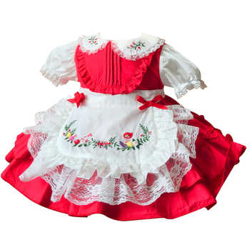 Boutique Hand Made Baby Frocks Girl Embroidery Dress Children Lolita Style Short Sleeve Ball Gowns Infant Spanish Clothing - DISCOUNT ITEM  40% OFF All Category