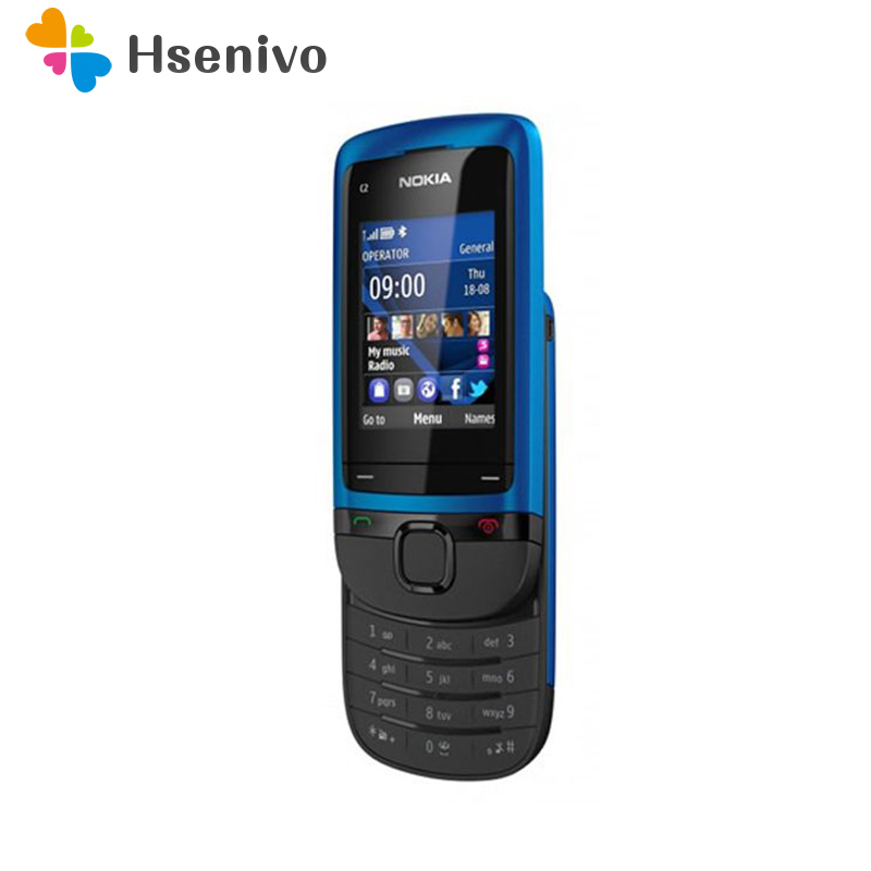 C2-05 Original Unlocked Nokia C2-05  Slide Cell Phone  Bluetooth Refurbished