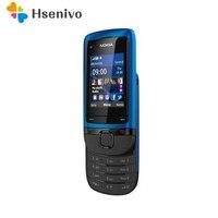 C2-05 Оригинальный разблокированный телефон Nokia C2-05 скользящий для мобильного телефона Bluetooth Восстановленное
