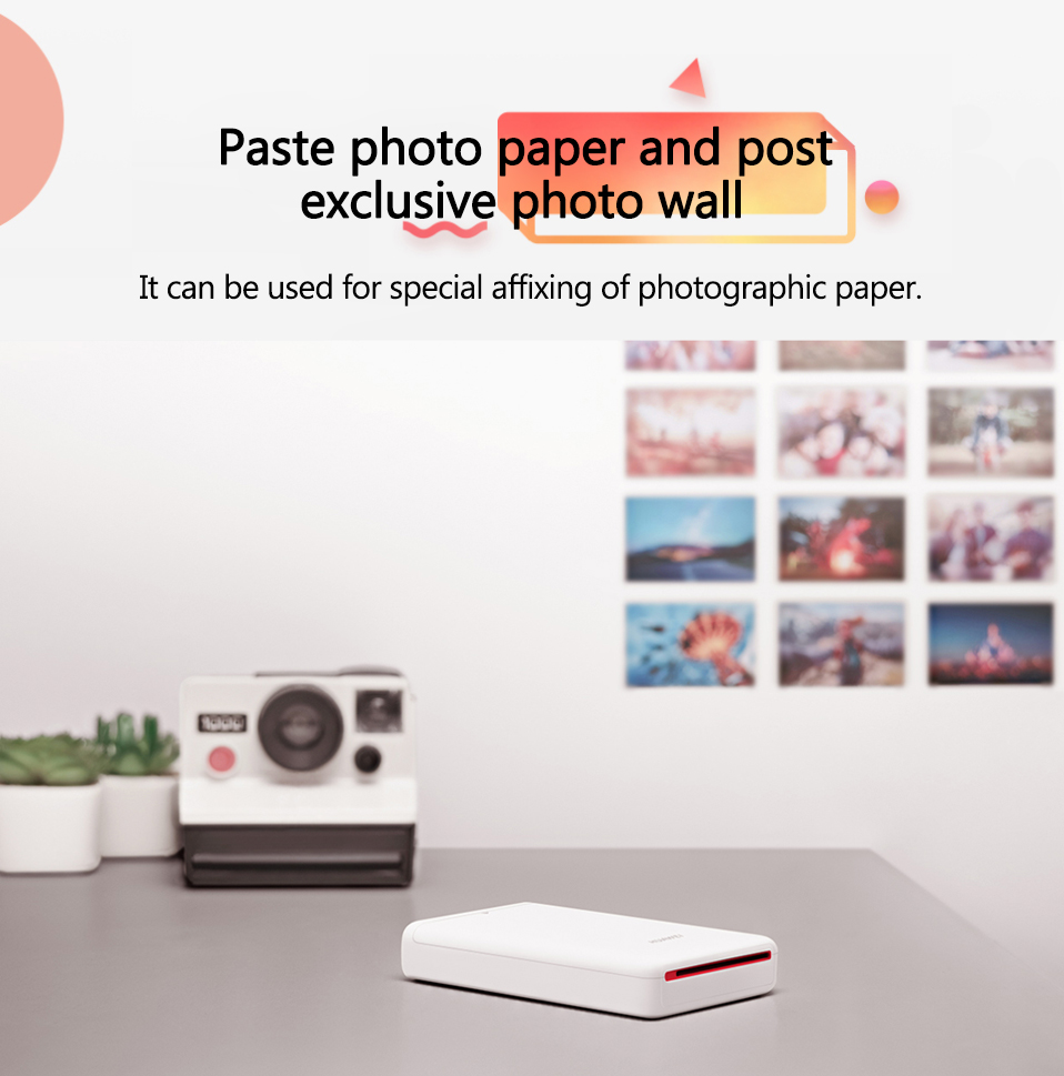AR Printer 300dpi Original Huawei Zink Portable Photo Printer Honor Mini Pocket Printer Bluetooth 4.1 Support DIY Share 500mAh (7)