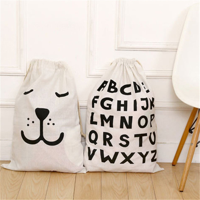 4c84f8f78d8f Cartoon Storage Bags Drawstring Backpack Children Room Organizer For Toy  And Baby Clothings Kids Laundry Bag
