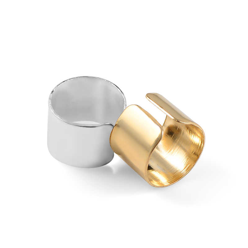 Simple Personality Pierced Ear Cuffs Punk Stainless Steel Silver Gold Clip Earrings for Women Men Hip Hop Earrings Brincos8C1297