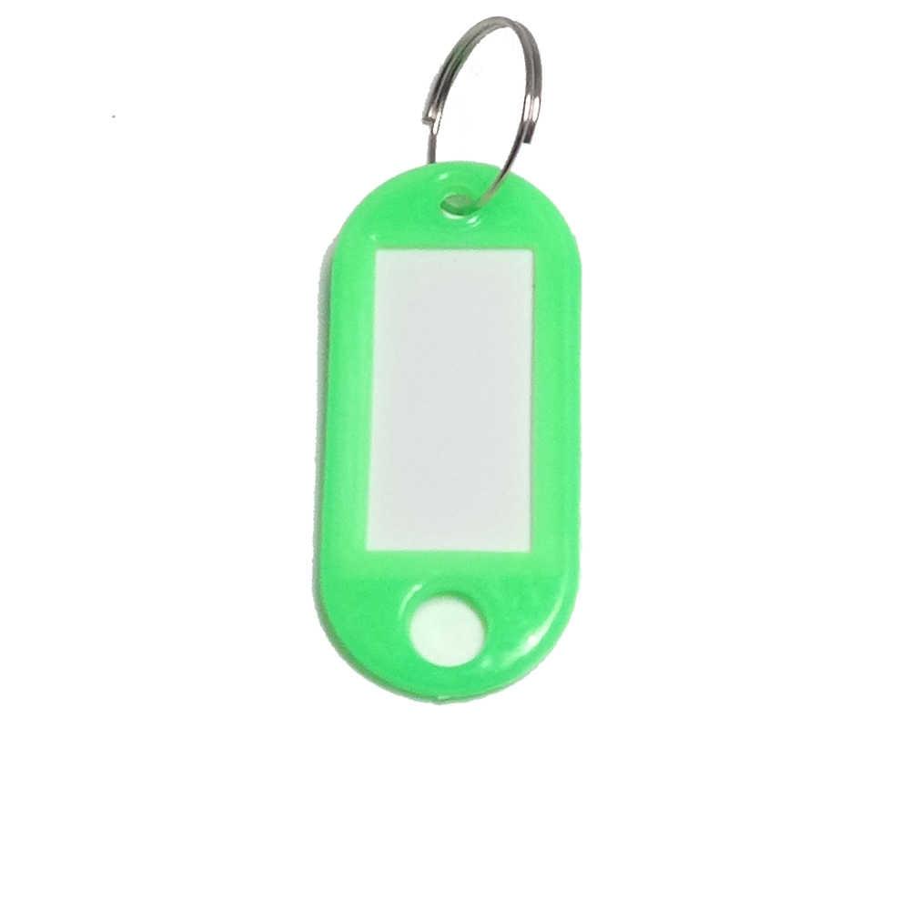1 PC Plástico Personalizado Chaveiros Chave Anéis Dividir Anel Chave ID Etiquetas Numeradas Nome Bagagem Etiquetas de Bagagem