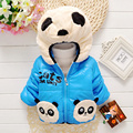 Boys Winter Coats Cotton Hooded Zipper Thick Outerwear & Coats Character Panda Winter Jacket Boys Casual Style Coat for Kids