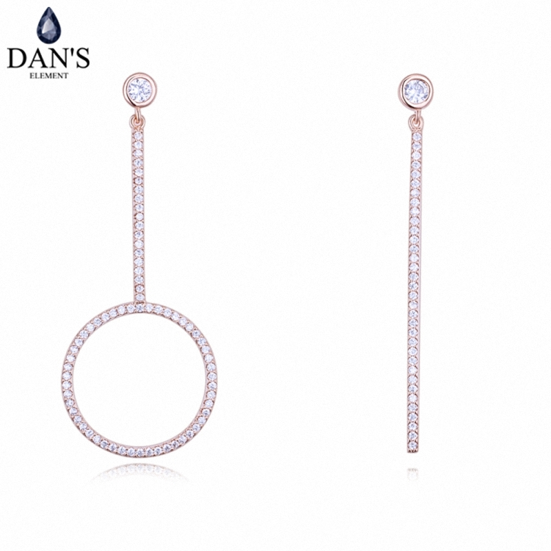 DANS 3 Colors Real Austrian crystals Stud earrings for women Earrings s New Sale Hot Round 128277