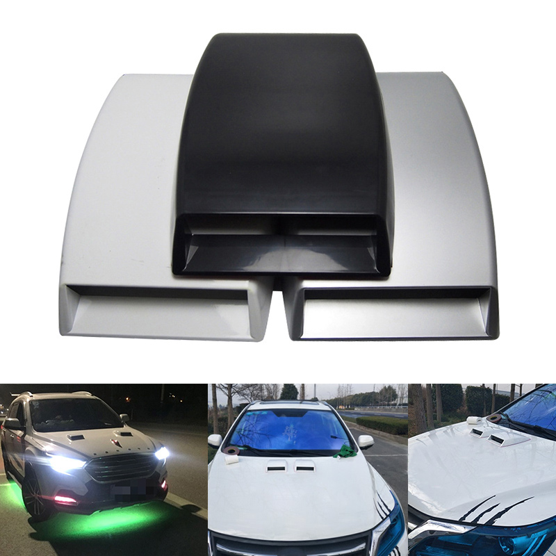цена на Car-Styling Universal Car Sticker Air Flow Intake Scoop Turbo Bonnet Vent Cover Hood Decorate XR657