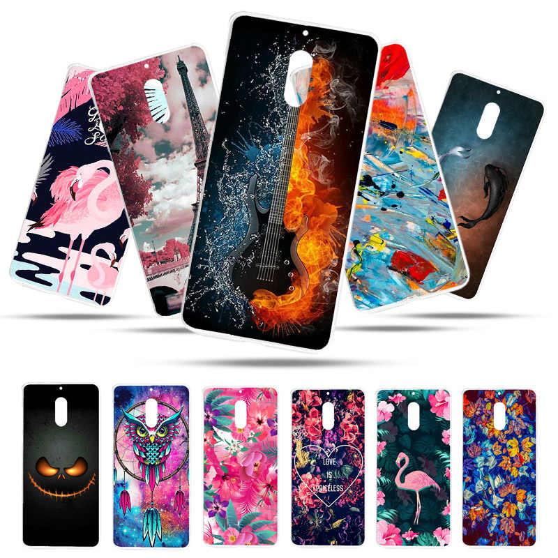 Bolomboy Painted Case For Nokia 6 Case Silicone Soft TPU Cases For Nokia 7.2 6 TA-1000 Cover Wildflowers Cute Animal Bags