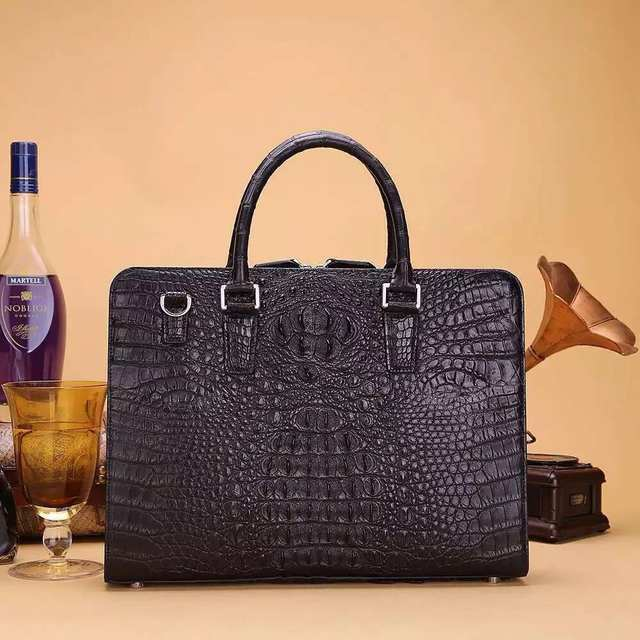 placeholder Men s Genuine Alligator Skin Leather Business Briefcase Bag,  100% Genuine Real Crocodile Skin b02d835e91