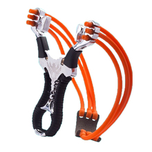 Scoutdoor Powerful Stainless Steel Outdoor Sling Shot with Aim Point Rubber Band Tubing Slingshot Hunting Catapult Stone Hunting powerful hunting slingshot with rubber band tubing pu leather catapult professional tactical plastic pocket sling shot ball