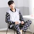 2017 Hombres de la Marca de Pijama Establece Camisón Pijamas de Invierno Gruesa de Coral Polar Camisón Europea de Alta Calidad Para Hombres Ropa