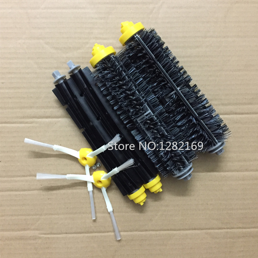 Bristle and Flexible Beater Brush Srew Replacement For iRobot Roomba 600 700 Series Brush kit side 620 630 650 760 770 780 790 flexible beater brush bristle brush for irobot roomba 500 600 700 series 550 630 650 660 760 770 780 790 vacuum cleaner parts