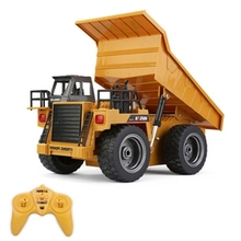 Children's Day gift HuiNa Toys 1540 6 Channel 1/12 Metal Dump Truck Charging RC Car