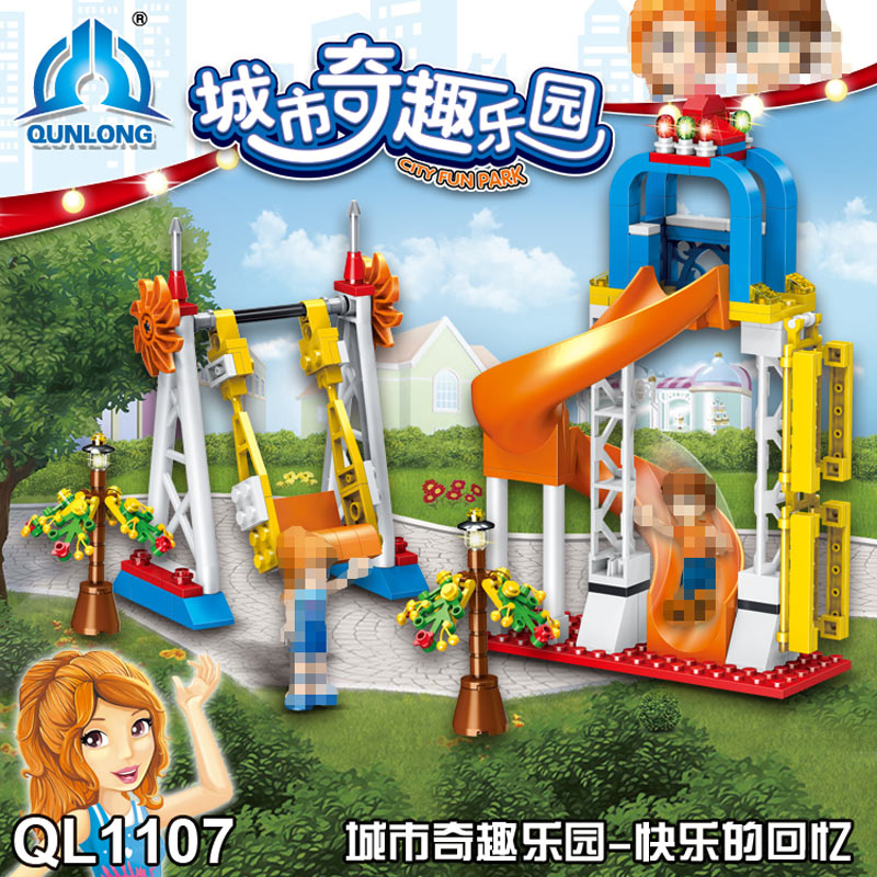 230pcs Chidren Funny Park Paradise Building Blocks Toy City Theme Building Bricks Enlightenment Xmas Gift Toys For kids