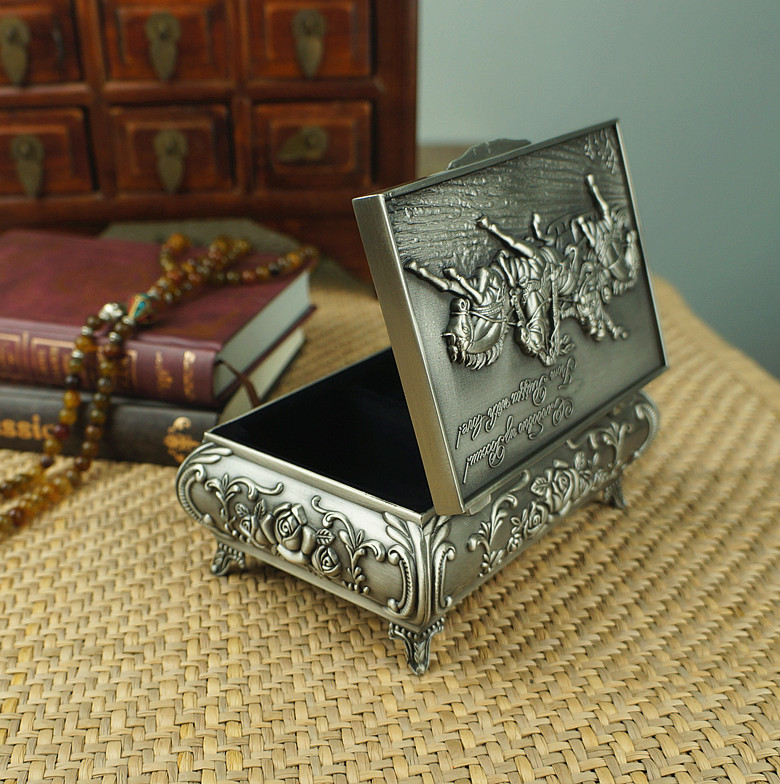New Classical Carving horse Princess jewelry box Sweet ...