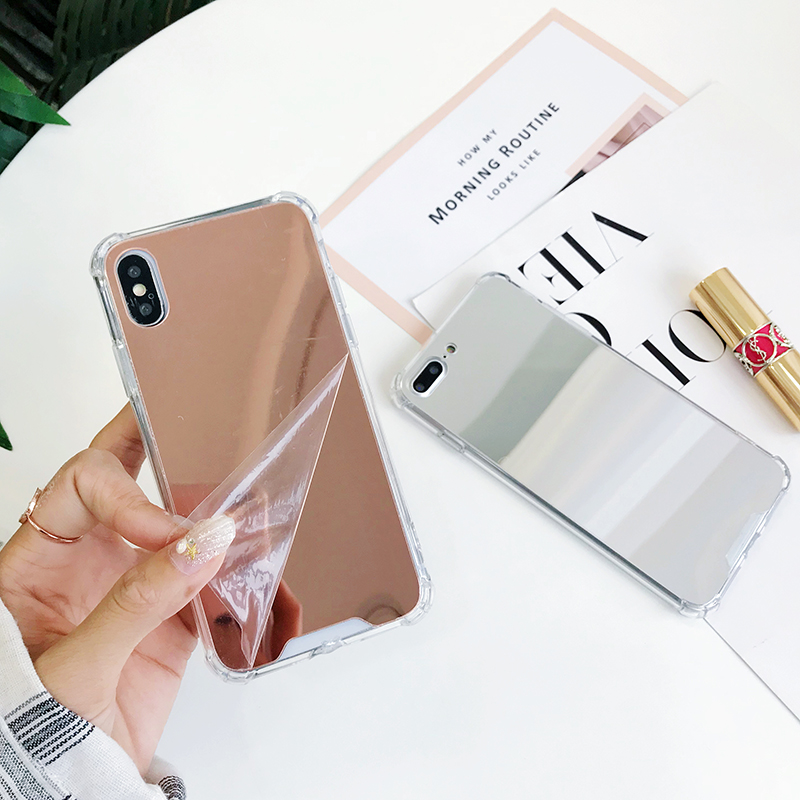 Mirror Effect Luxury Case For Samsung Note10 Plus S9 S8 S10E Anti-knock Case For iPhone 11Pro Max 2019 X XS MAX XR 8 7 6 6S Plus