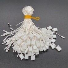 """100 Pieces White Hang Tag String 7"""" Nylon Cord For Garment Hang Tag Snap Lock Pin Loop Fastener Hook Ties"""