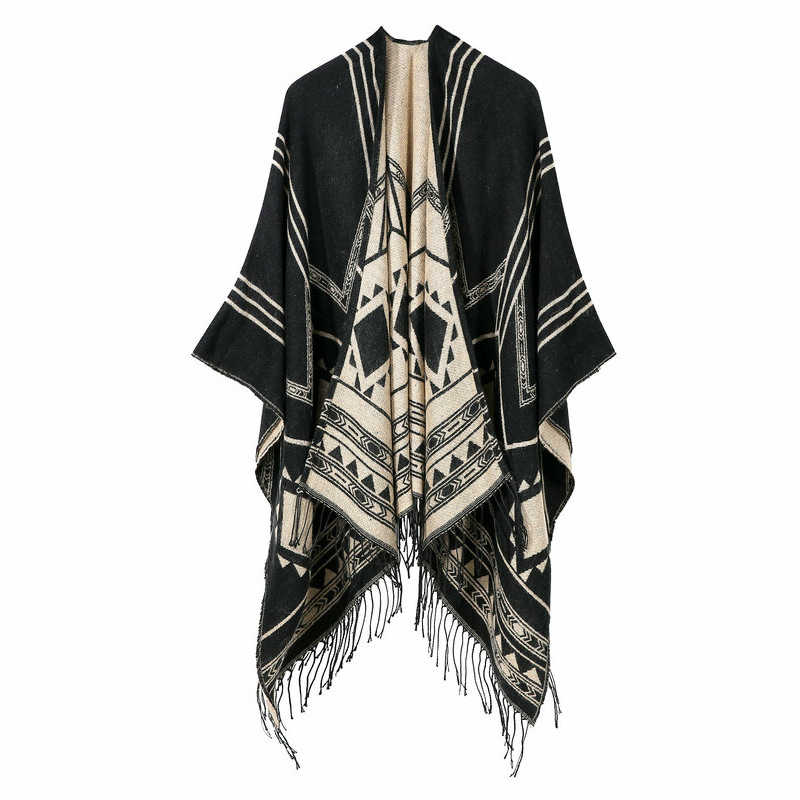 2019 Special Offer Adult Winter New Women Winter Fashion Ponchos And Capes Hooded Thick Warm Shawls Scarves Femme Outwear