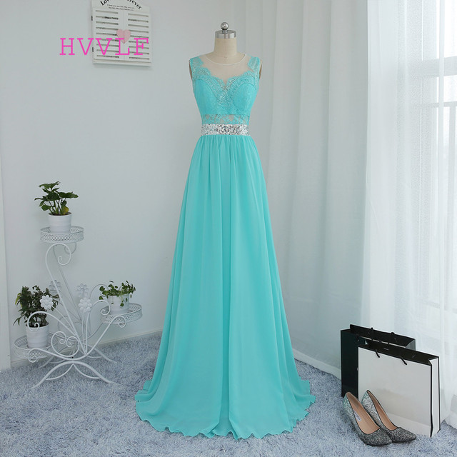 HVVLF 2018 Cheap Bridesmaid Dresses Under 50 A-line See Through Mint Green  Chiffon Lace Sequins Wedding Party Dresses 39f316e50bad