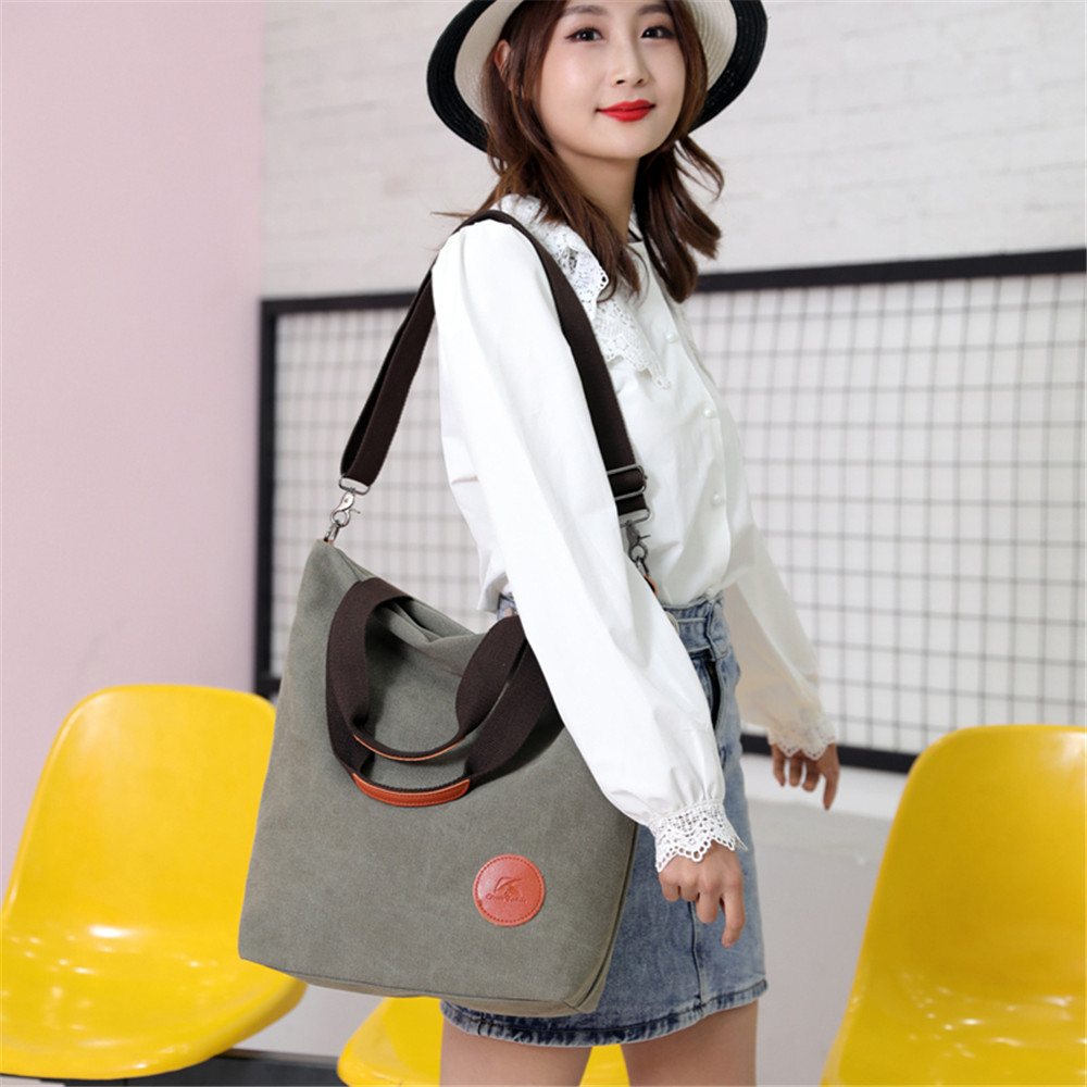 Large capacity ladies hand bags Canvas bags for women 2019 women bag over shoulder bag reusable shopping bag bolso mujer Tote in Top Handle Bags from Luggage Bags