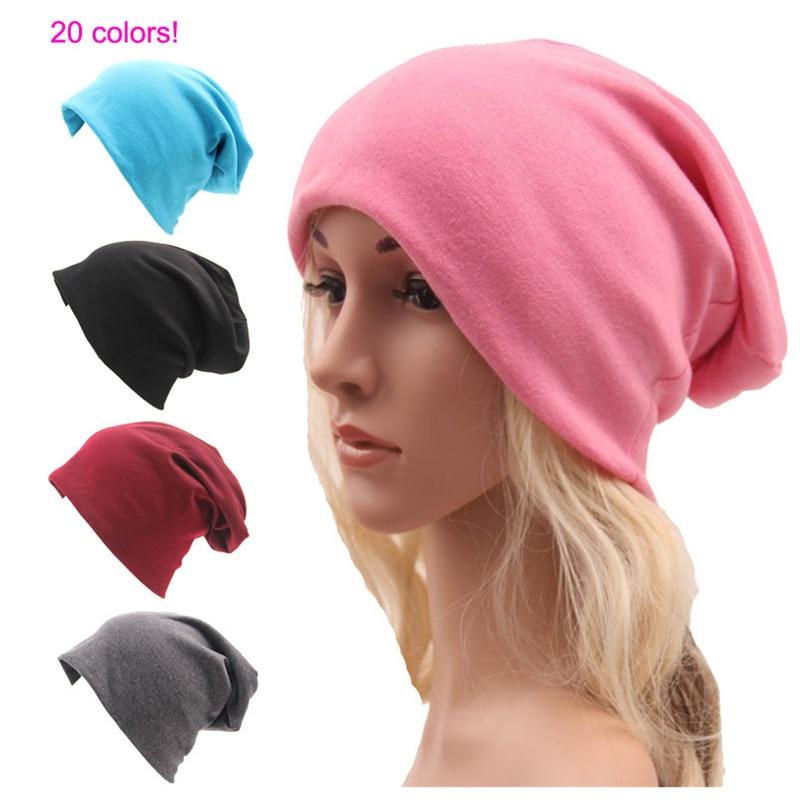 Solid Color Unisex Knitting Cotton Hat Fashion Men Women Skullies Beanies Hedging Cap Double Layer Fabric Caps Bonnet Hat