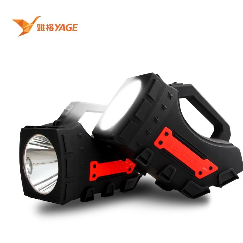 YAGE CREE portable light led spotlights camping flashlight portable spotlight handheld spotlight light 4000mAh EU/USA/UK Plug