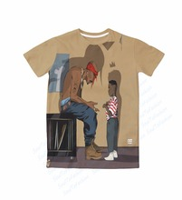 Echt amerikanische uns größe legendären (tupac x kendrick lamar) 3d sublimationsdruck t-shirt nach maß plus size clothing