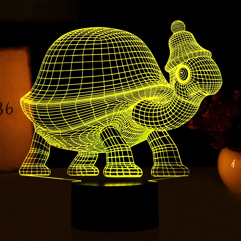 Animal Tortoise 3d Nightlight 7 Colors Changing Led Sea Turtles