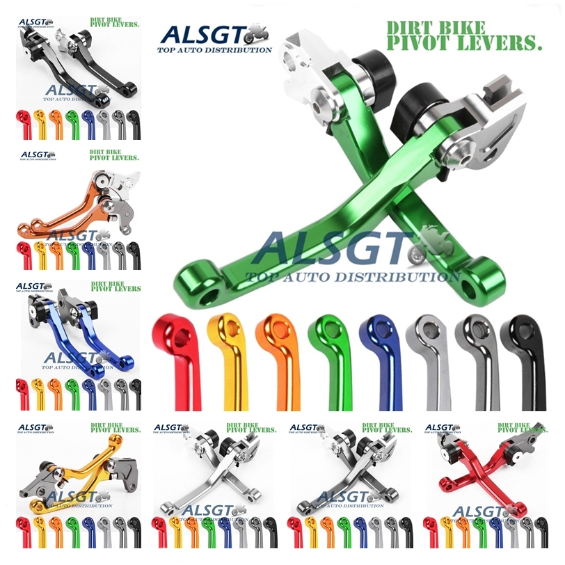 For Kawasaki KX250 KX 250 1990-2004 CNC Pivot Racing Dirt Bike Clutch Brake Levers 1992 2003 2002 2001 2000 1999 1998 1997 1996 cnc 7 8 for honda cr80r 85r 1998 2007 motocross off road brake master cylinder clutch levers dirt pit bike 1999 2000 2001 2002