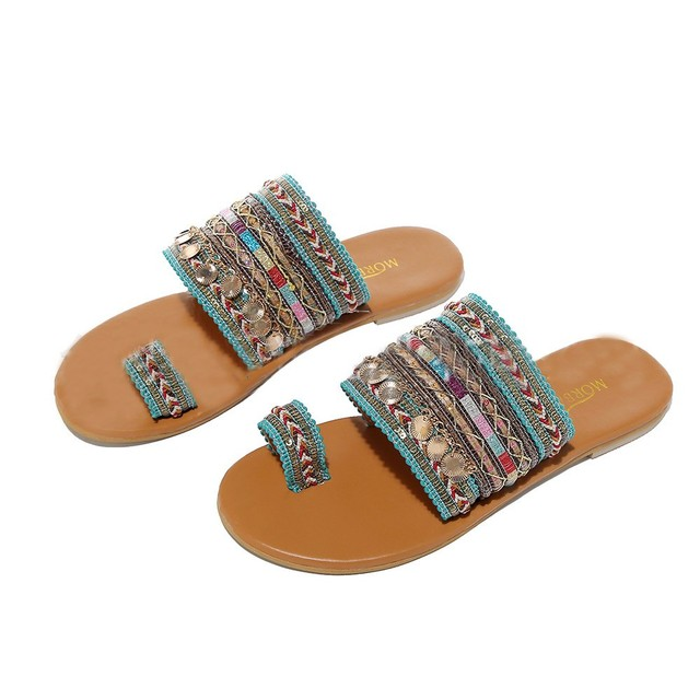 Women Artisanal Sandals Flip-Flops Handmade Greek Style Boho Flip Flop Sandals Streetwear Fashion Shoes Women chaussures femme