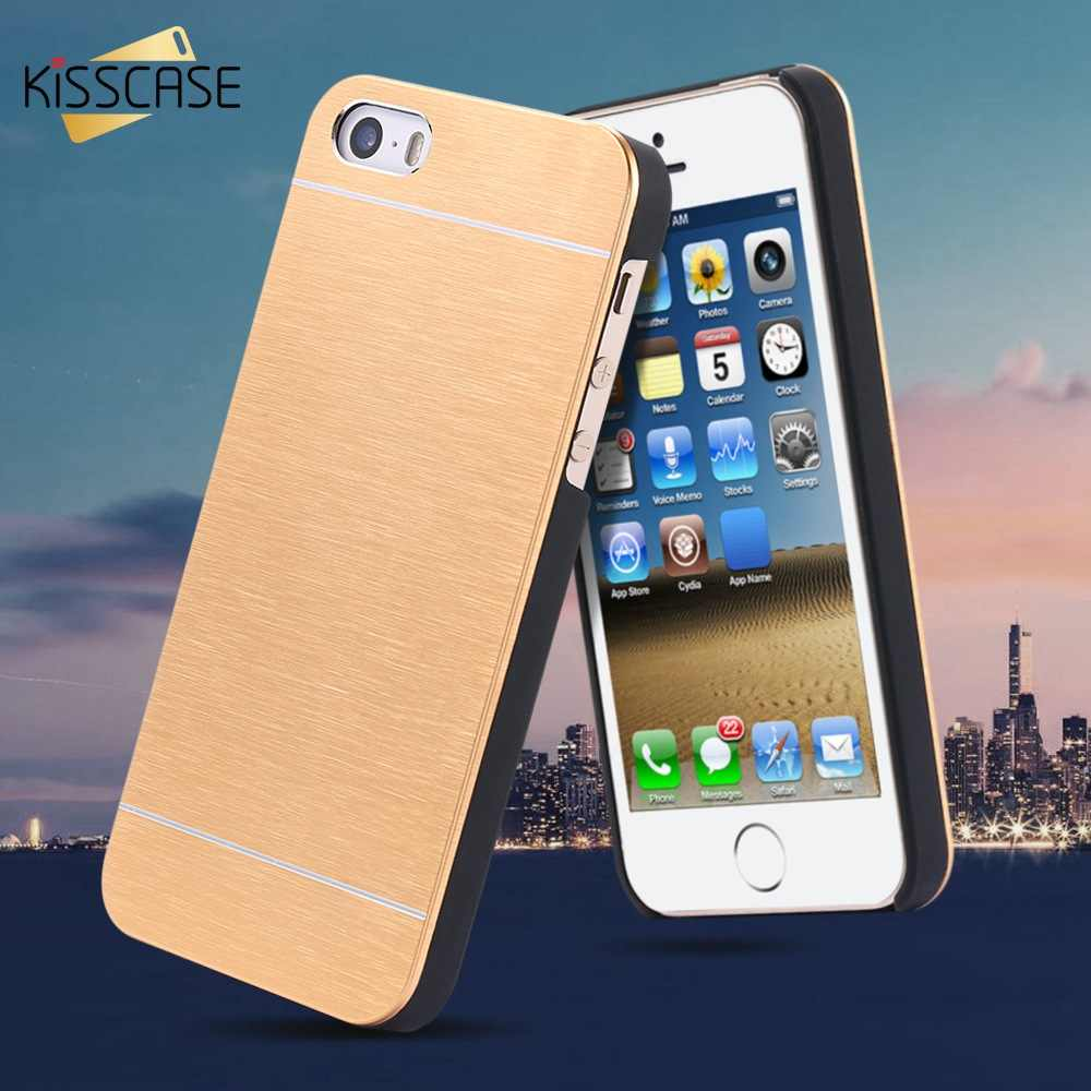 new product 86c88 4e94b KISSCASE Motomo Brush Aluminum Case For iPhone 5 5S SE Metal Luxury Phone  Cases For iPhone 7 8 6s 6 Plus Coque Accessories Cover